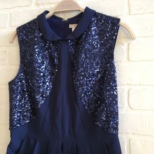 Sequin collared dress